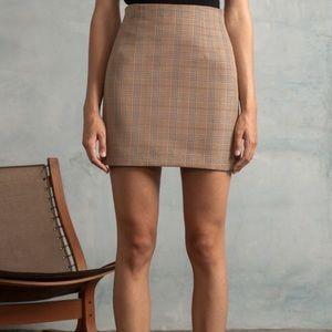 brown plaid banana republic skirt